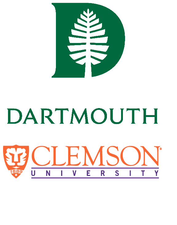 Dartmouth and Clemson logos